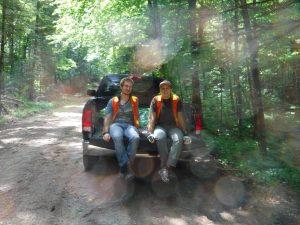 Joe Rakofsky and Stacey Leson at the truck after finishing a plot. (Photo: Karin van Ewijk)